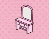 Coloring page Vanity with drawers painted byLornaAnia