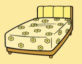 Coloring page A bed painted byLornaAnia