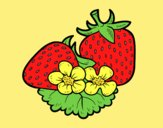 Coloring page Big strawberries painted byLornaAnia
