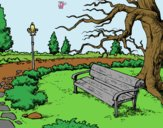 Coloring page Landscape park painted byLornaAnia