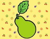 Coloring page pear painted byLornaAnia