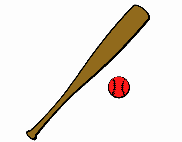 Baseball bat and baseball ball