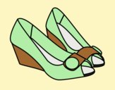 Coloring page Beautiful shoes painted byLornaAnia