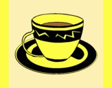Coloring page Cup of coffee painted byLornaAnia