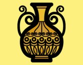 Coloring page Decorated vase painted byLornaAnia