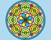Coloring page Mandala 35 painted byLornaAnia