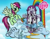 Coloring page Rainbow Dash palace painted byx4stacy