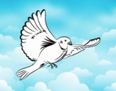Coloring page White dove painted byLornaAnia