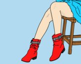 Coloring page Young legs painted byLornaAnia