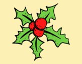 Coloring page Christmas Holly painted byLornaAnia