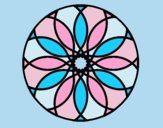 Coloring page Mandala 38 painted byLornaAnia