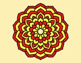 Coloring page Mandala flower petals painted byLornaAnia