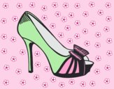 Coloring page Platform shoe with bow painted byLornaAnia