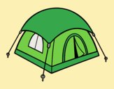 Coloring page Shelter tent painted byLornaAnia