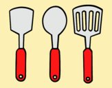 Coloring page spatulas painted byLornaAnia