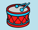 Coloring page Toy drum painted byLornaAnia