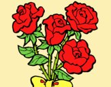 Coloring page Bunch of roses painted byLornaAnia