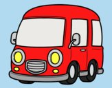 Coloring page Classic van painted byLornaAnia