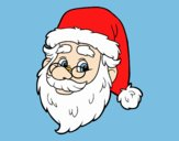 Coloring page One Santa Claus face painted byLornaAnia