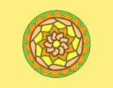 Coloring page Mandala 1 painted byLornaAnia