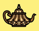 Coloring page Arabic Teapot painted byLornaAnia
