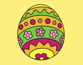 Coloring page Easter egg DIY painted byLornaAnia