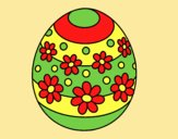 Coloring page Spring easter egg painted byLornaAnia