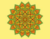 Coloring page Increasing flash mandala painted byANIA2