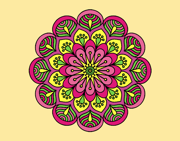 Mandala flower and sheets