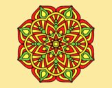 Coloring page A mandala oriental flower	 painted byANIA2