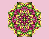 Coloring page A mandala oriental flower	 painted byLornaAnia