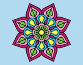 Coloring page Simple flower mandala painted byLornaAnia
