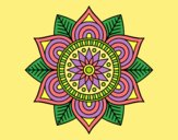 Coloring page Star flower mandala painted byLornaAnia