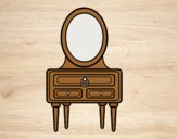 Coloring page A dressing table painted byAnitaR
