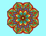 Coloring page A mandala oriental flower	 painted byJessicaB