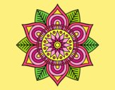 Coloring page Star flower mandala painted byJessicaB