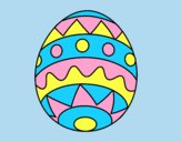 Coloring page Easter egg infant painted byJessicaB