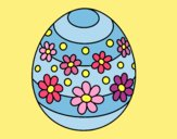 Coloring page Spring easter egg painted byJessicaB