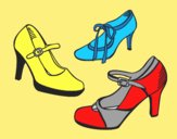 Coloring page Court shoes painted byLornaAnia