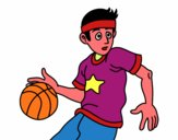 Junior basketball player