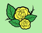 Coloring page Two roses painted byAnitaR