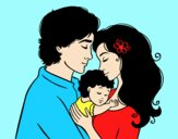 Coloring page Hug family painted byAnitaR