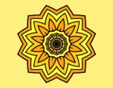 Coloring page Flower mandala of sunflower painted byAnitaR