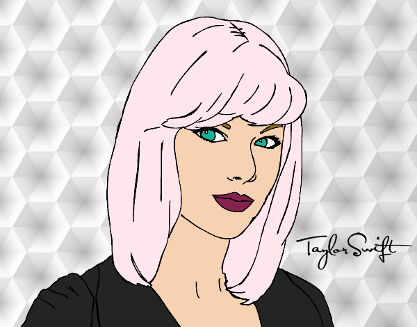 Colored page Taylor Swift painted by User not registered