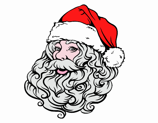 Face of Santa Claus for Christmas