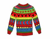 Printed wool sweater