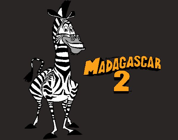 Marty Coloring Page - Free Madagascar 3: Europe's Most Wanted Coloring Pages  : ColoringPages101.com | 470x600