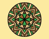 Coloring page Mandala bamboo flower painted byLornaAnia