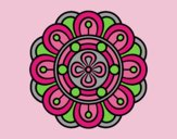 Coloring page Mandala creative flower painted byLornaAnia