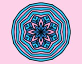 Coloring page Overhead mandala painted byLornaAnia